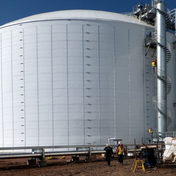 North Dakota Ammonia Storage 170'Dx66'H